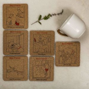 Coasters set of 6 – Dog's Best Friend