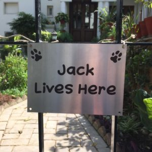"Collarfolk""Jack Lives Here""Dog Sign Board"