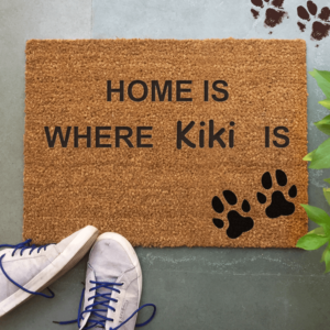 "Collarfolk""Home Is Where Kiki Is"" Doormatt"