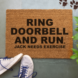 "Collarfolk""Ring Doorbell And Run"" Doormatt"